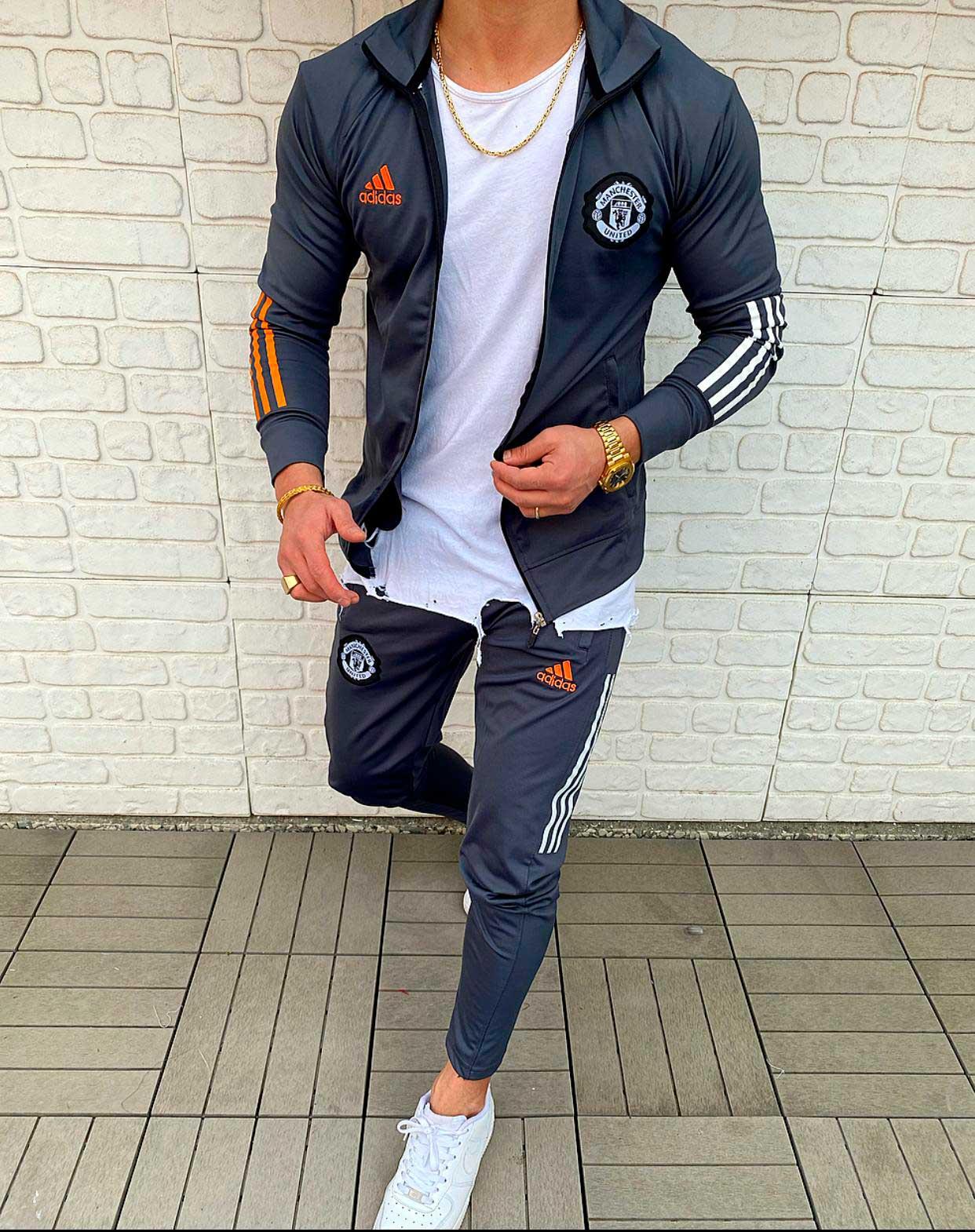Мужской спортивный костюм Adidas manchester united